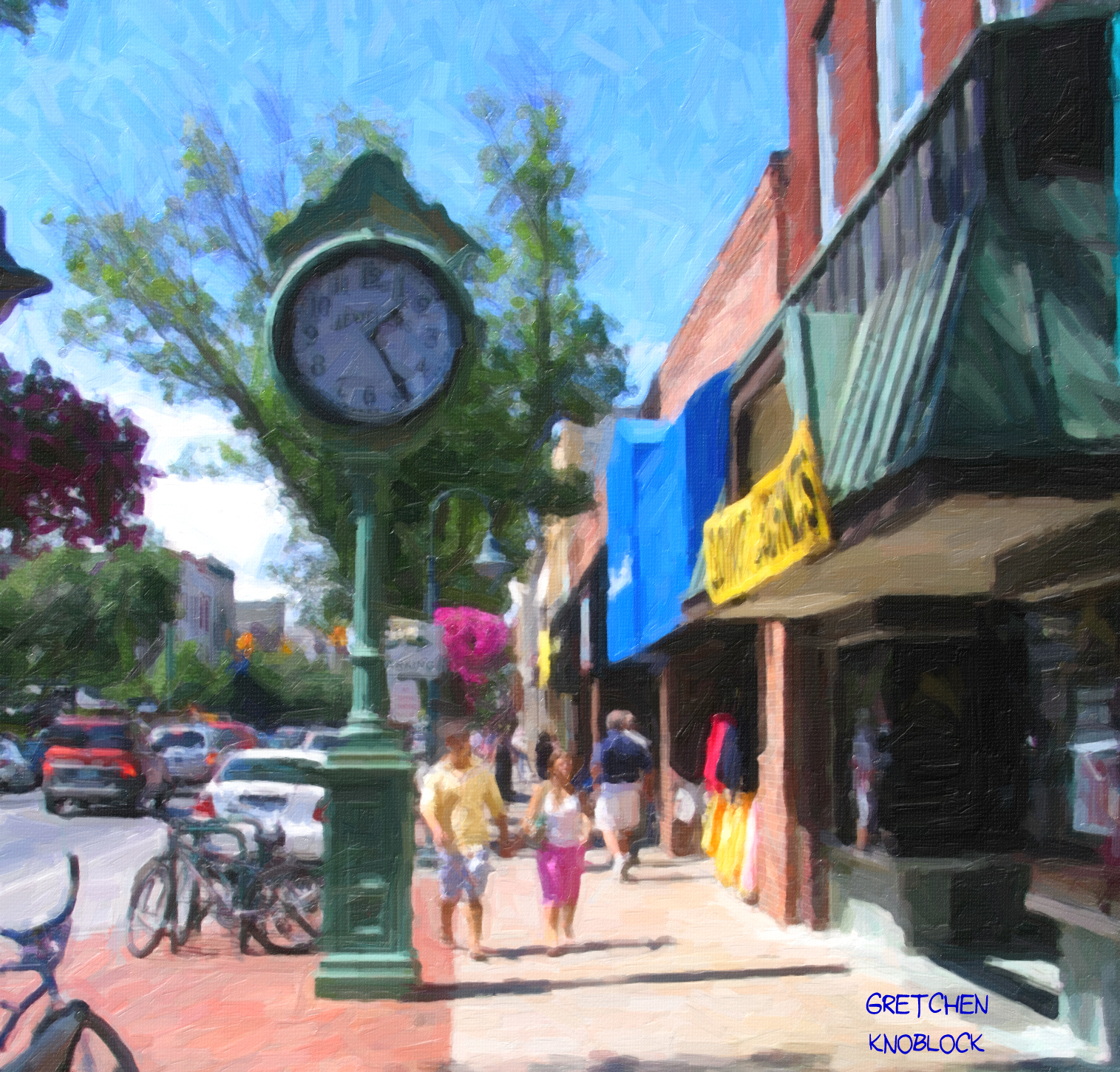Traverse city plein air paint out downtown traverse for Craft shows in traverse city mi
