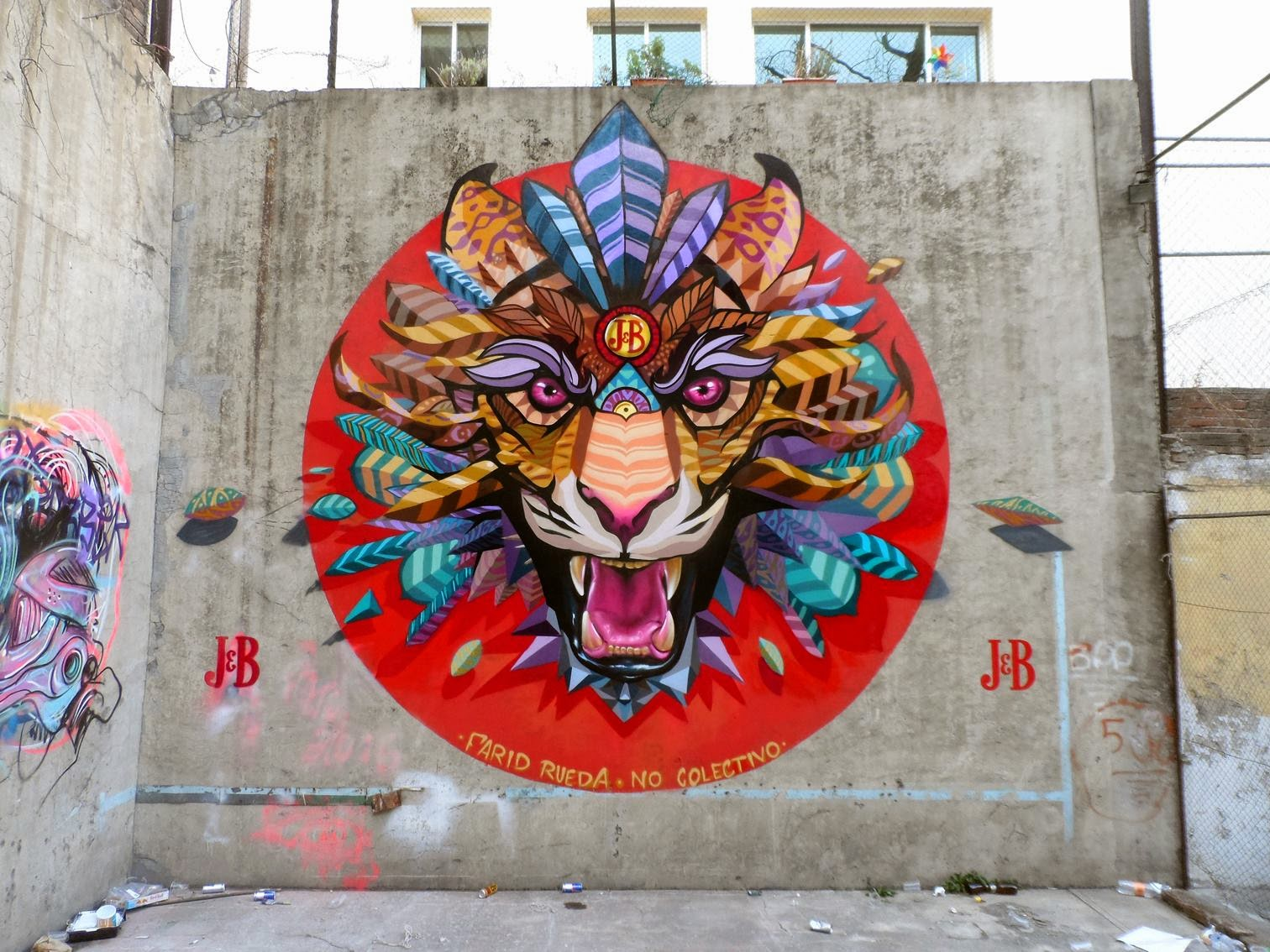 Farid rueda unveils a new series of murals on the streets for Mural street art
