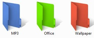 Colorized folders