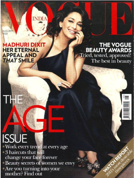 , Madhuri Dixit On Vogue Magazine Cover