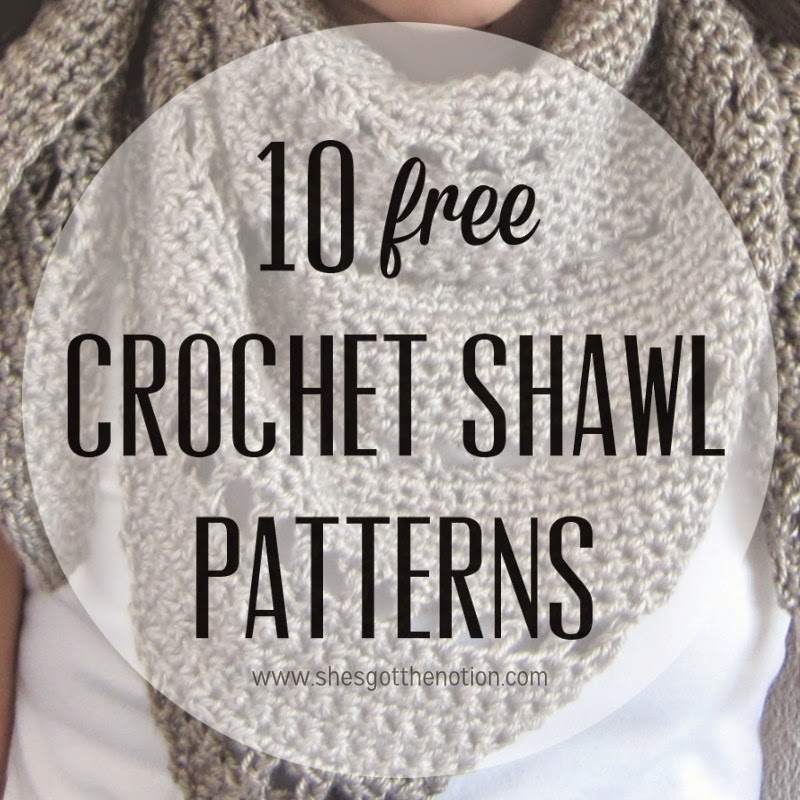 10 For Tuesday Crochet Shawl Patterns