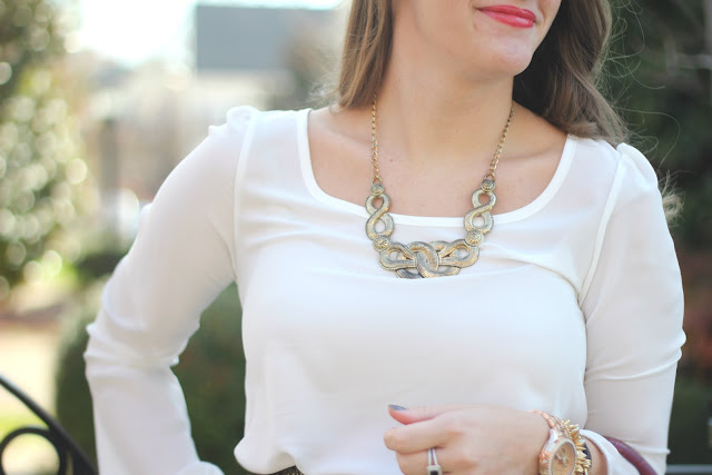 gold statement necklace, gold necklace, statement necklace, statement jewelry, southern necklace