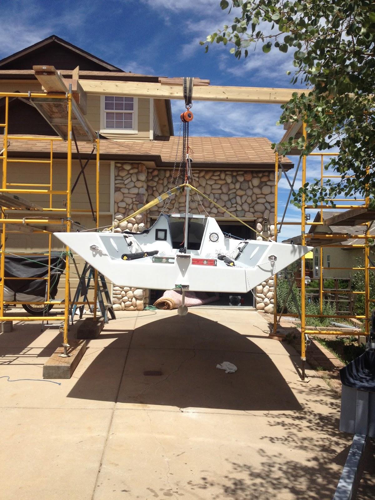 i550 #505 Sailboat build. TIME MACHINE