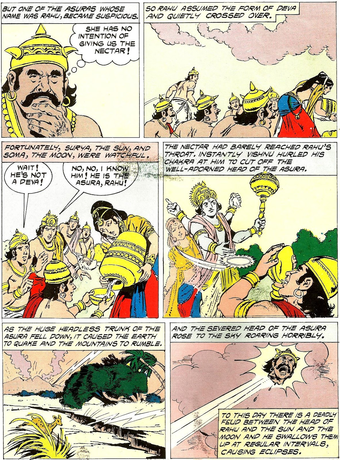 samudra manthan coloring pages - photo#8