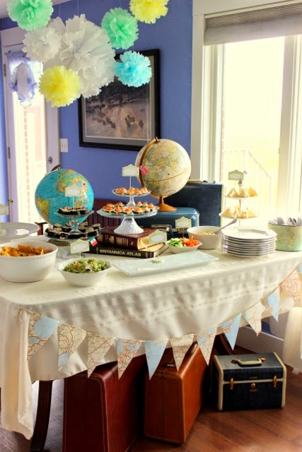 Mode de lis vintage travel party for Around the world party decoration ideas