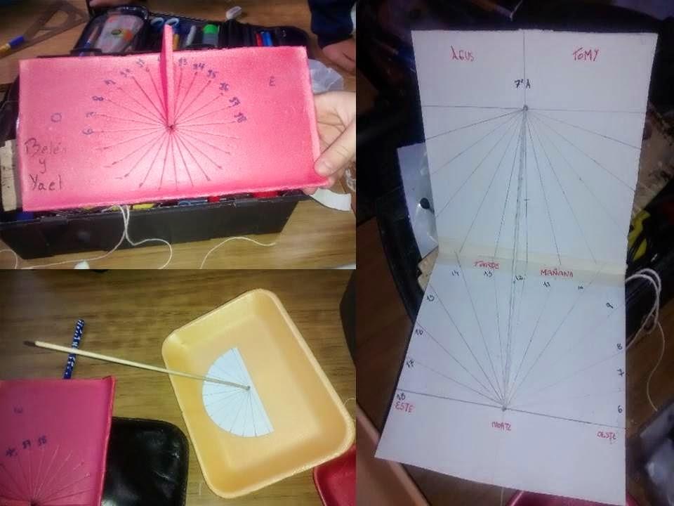 imágenes de relojes de sol creadas por los alumnos