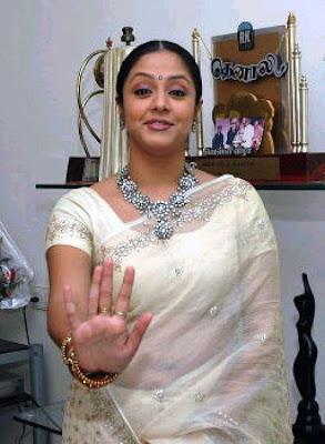 Jyothika in Sari