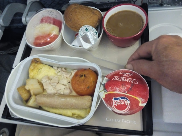 Cathay Pacific in-flight food kimzhiyi