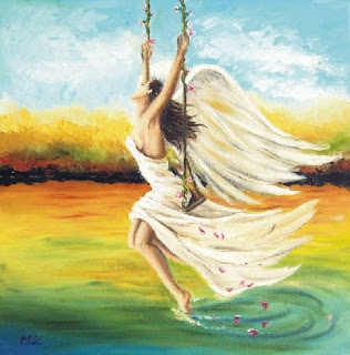 angel of joy on swing