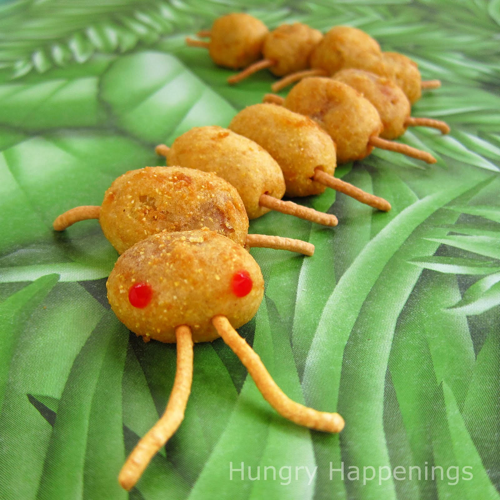 Creepy Corn Dog Centipedes for Halloween or a bug themed party ...