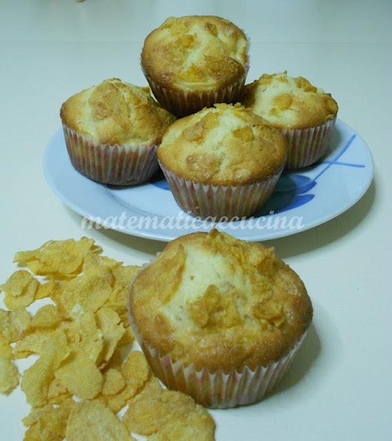 muffins alle mele e corn flakes