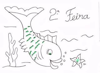 desenho peixe para pintar