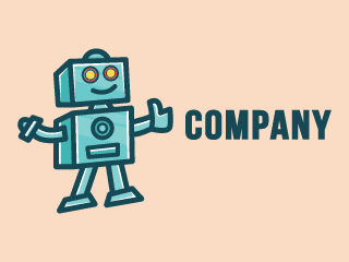 Smart Robot Mascot Cartoon Logo