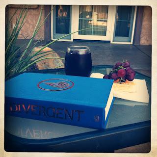 Reading Divergent, Desert Hot Springs, California