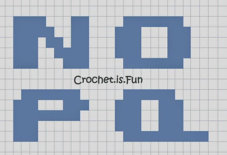 crochet is fun  free pattern  alphabet graph