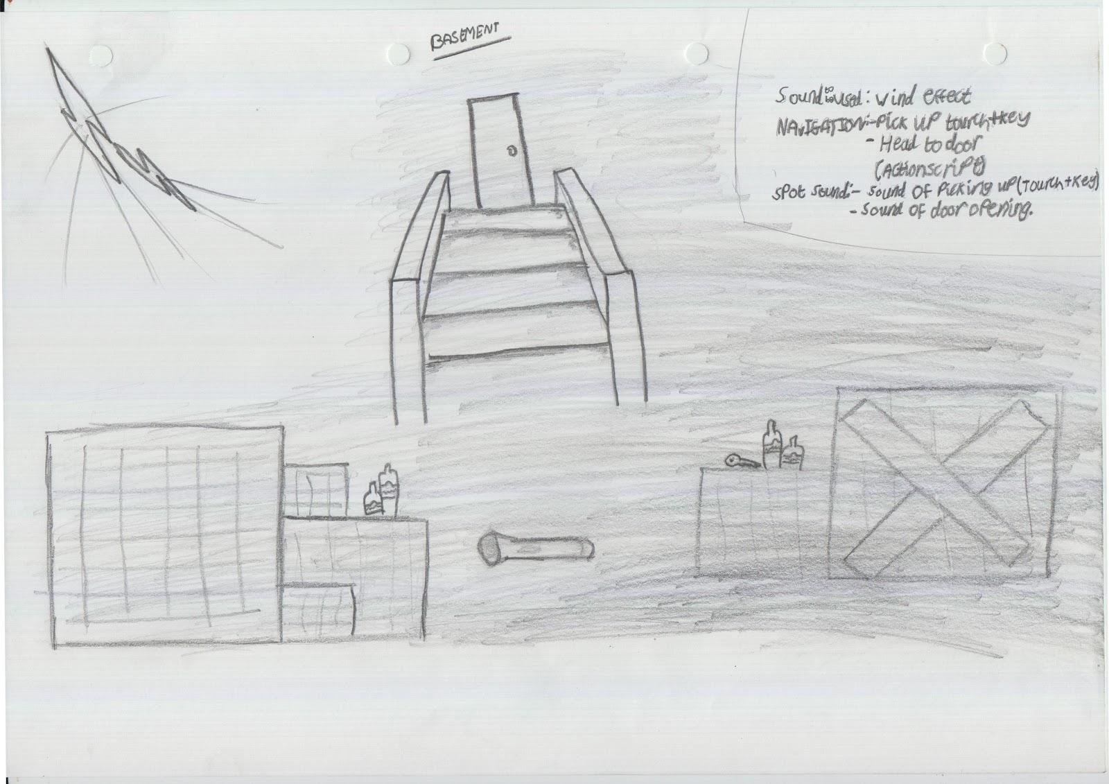 haunted house plan out concept art part 2