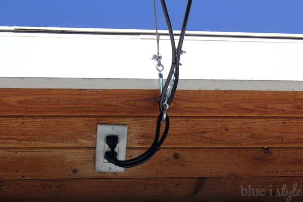 String Lights Garage : {outdoor style} How to Hang Commercial Grade String Lights Blue i Style