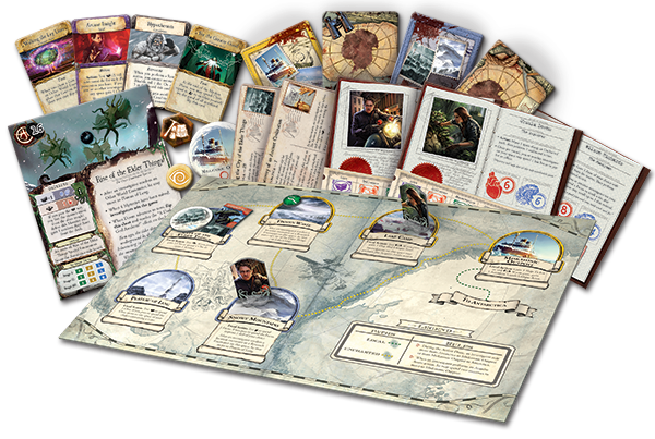 Eldritch Horror: mountains of madness board