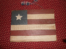"6 LATH - 12"" WOODEN AMERICAN FLAG WALL HANGING"