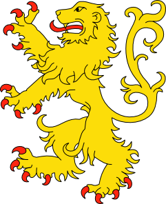 dibujo leon rampante: