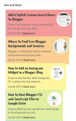 recent post widget for blogger 1