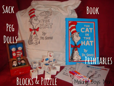 cat in the hat story sack