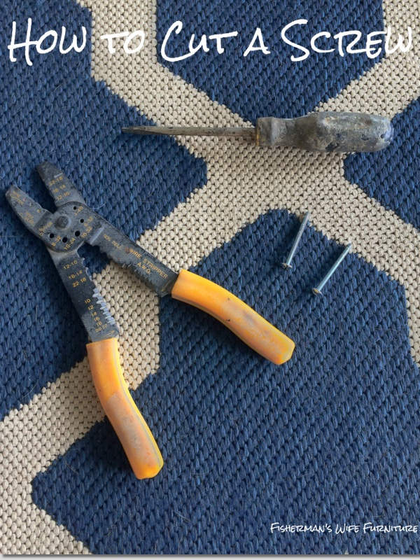 how to cut a screw with a hacksaw