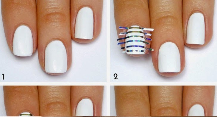 White and silver striped nail art tutorial entertainment news white and silver striped nail art tutorial prinsesfo Images