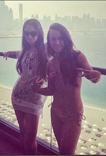 Tulisa Contostavlos Zebra Bikini Dubai