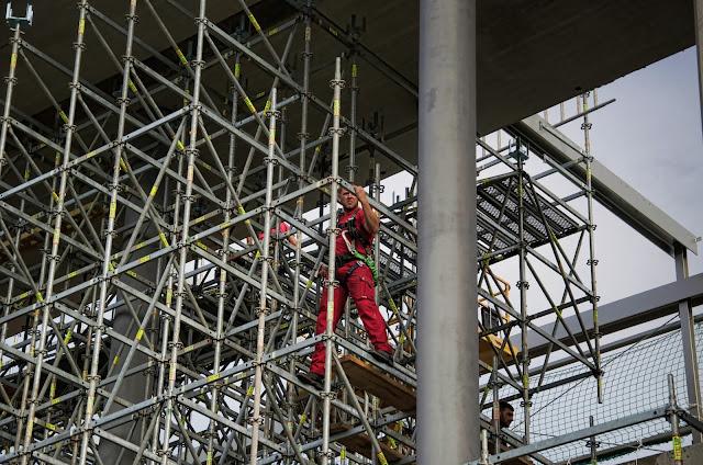 Baustelle Neubau Bauhaus Fachzentrum Halensee, Kurfürstendamm / Schwarzbacher Straße, 10711 Berlin, 03.09.2013