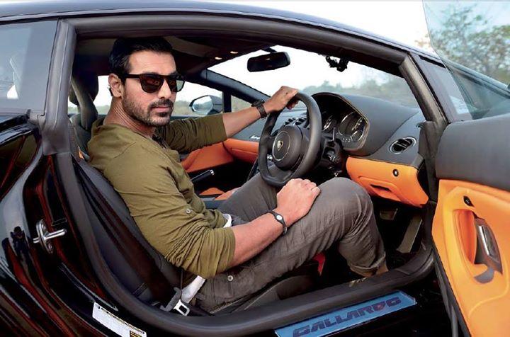 John Abraham At The Wheels Of His Lamborghini Gallardo Celebrity