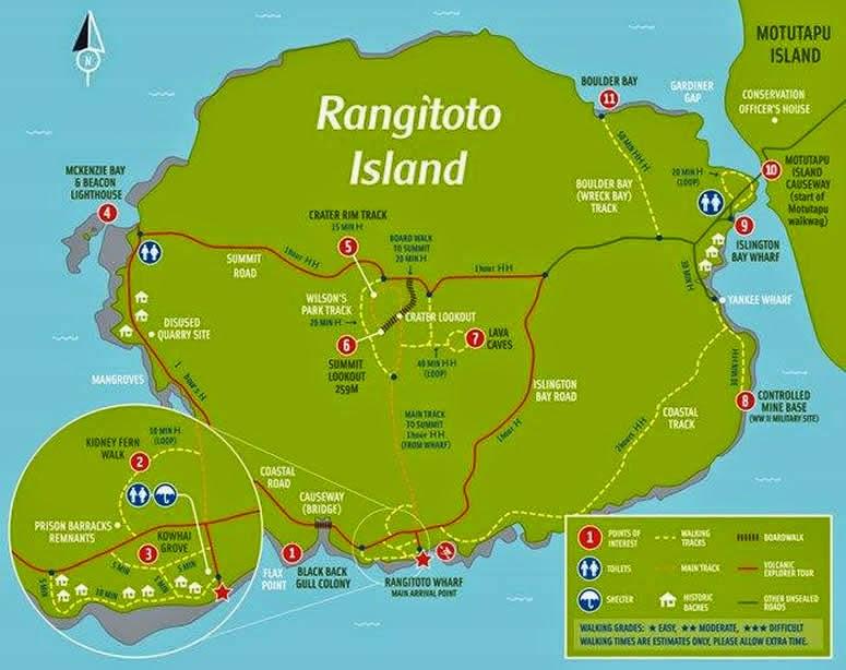 Rangitoto Island Map