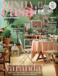 .E foi assim que ficou a capa da revista Minha Casa em Maio...