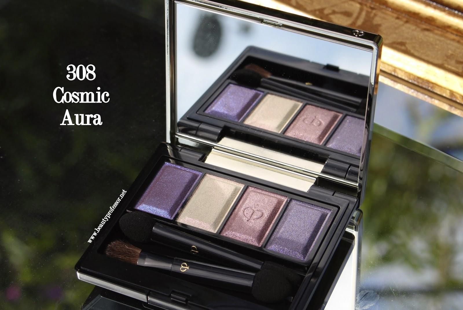 Cle de peau eye color quad 308 cosmic aura swatches