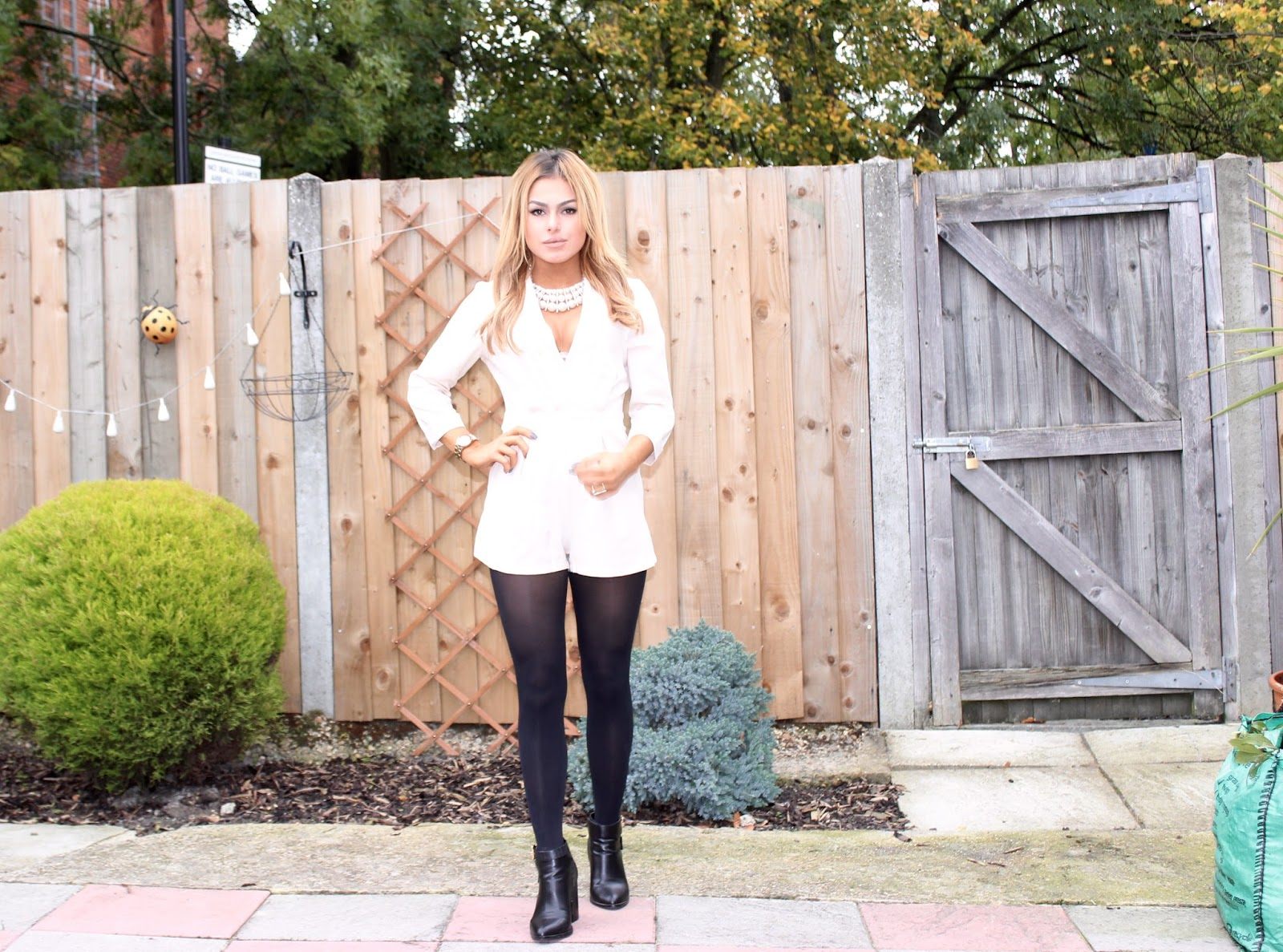 Dressed Down Glamour Look Featuring Boohoo Playsuit & Miss Selfridge Fall Boots