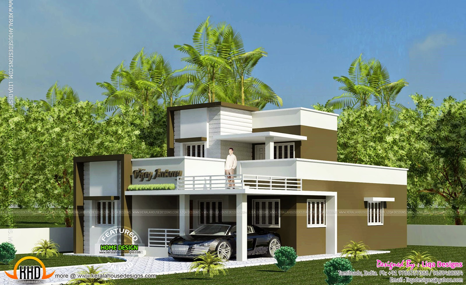 1365 sq ft 2 bedroom small house design kerala home for Home models in tamilnadu pictures