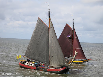 traditional Frisian fishing boats