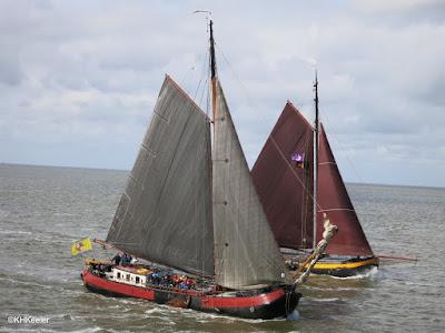 traditional Frisian fishing boats