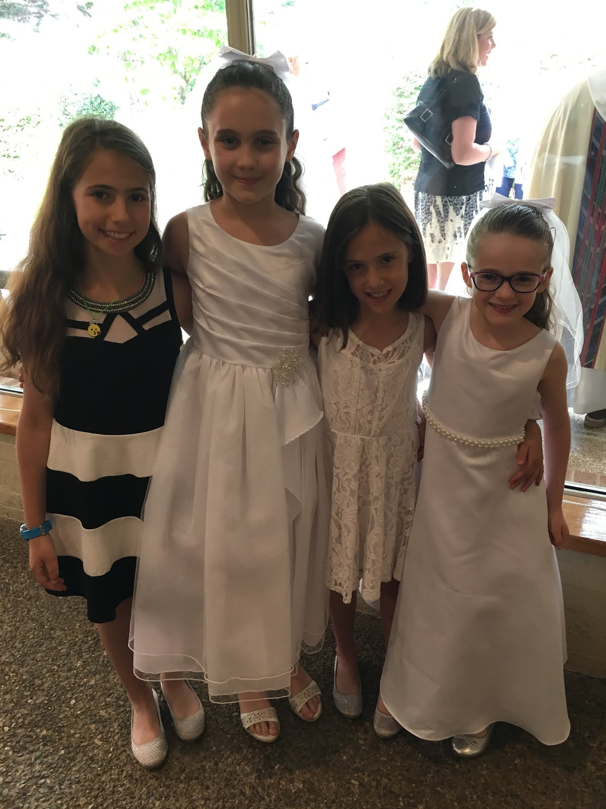 haven and joni: congrats to lily & ava at their first communion