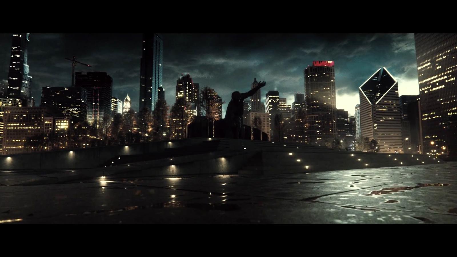 Image gallery superman cityscape for Batman cityscape wall mural