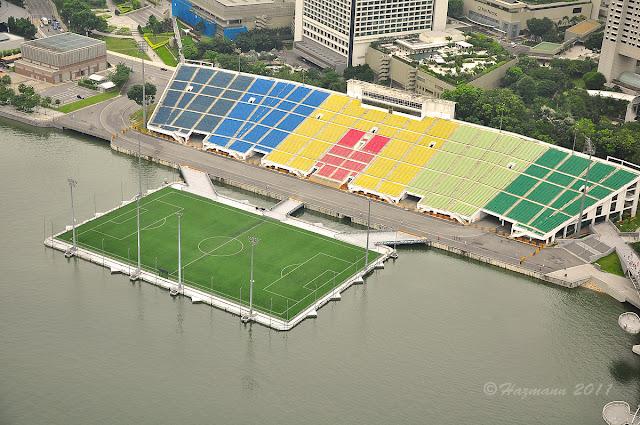 AN AMAZING FLOATING FOOTBALL STADIUM