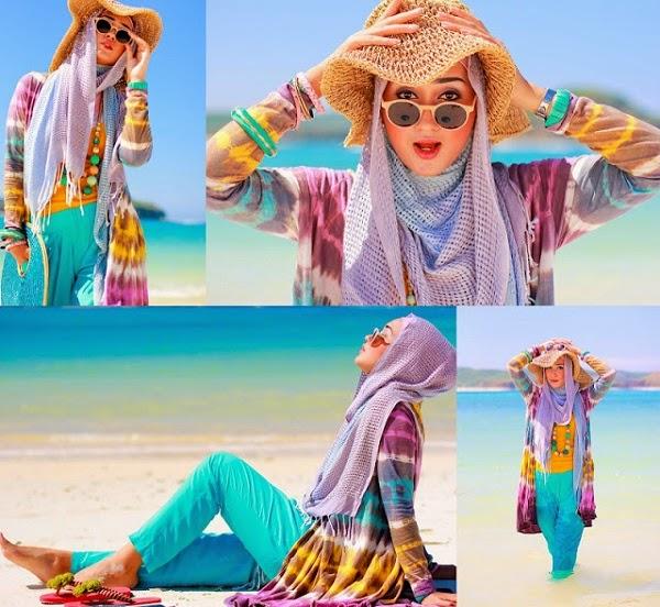 Tips memilih Busana Hijab untuk Berlibur di Musim Panas 1