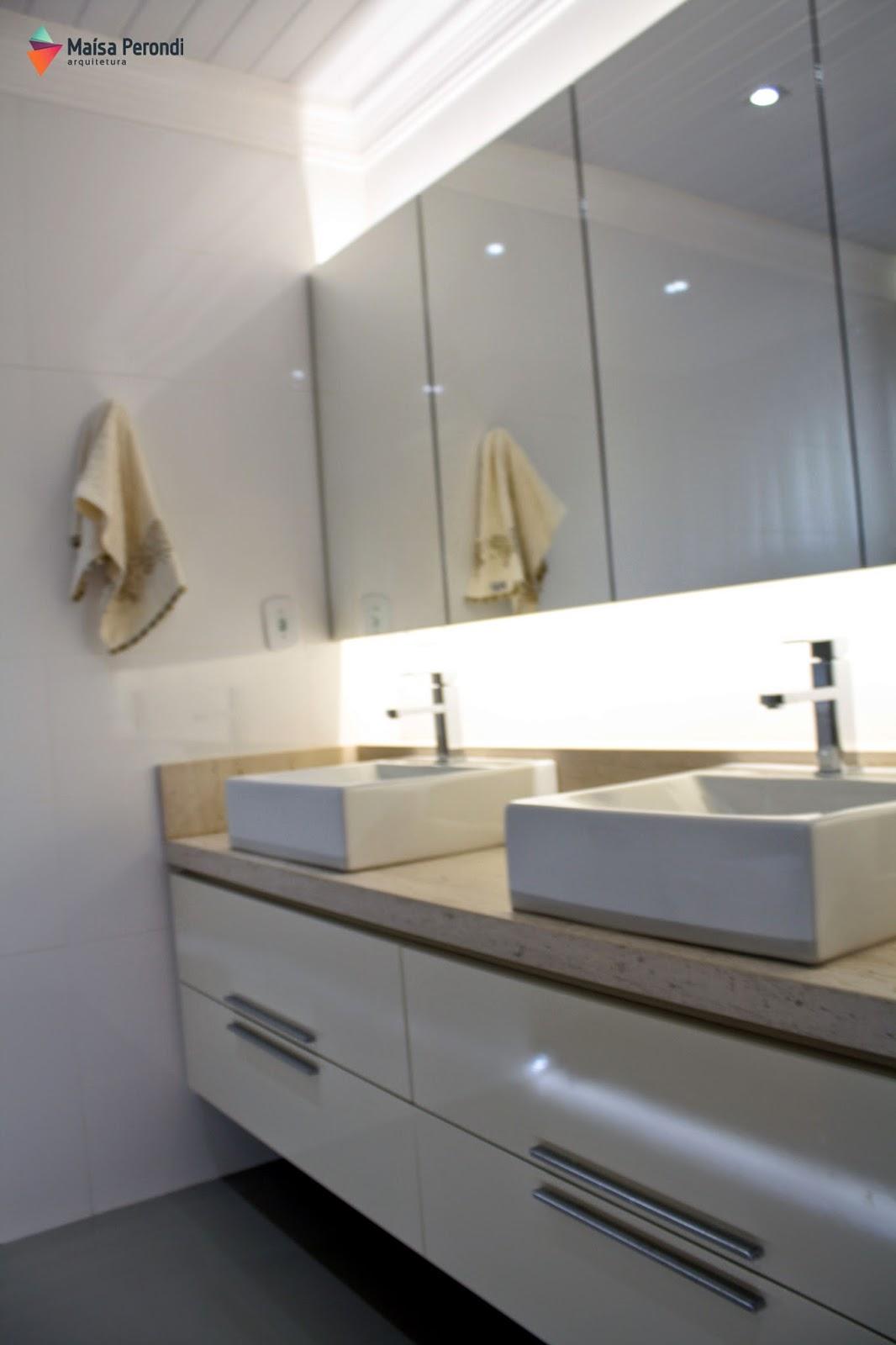 Apê da Ka Banheiros  Espelho com Armários -> Armario De Banheiro Com Espelho Crismetal