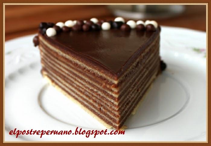 postre con chocolate