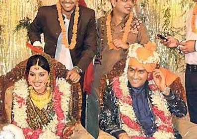 M.S.Dhoni wedding photo