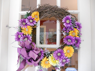 Old purple summer wreath