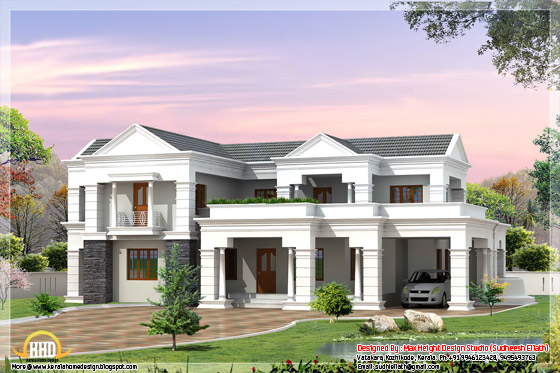 2700 square feet house elevation in 3D