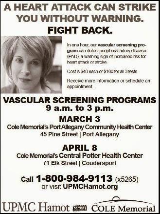 3-3/4-8 Vascular Screening