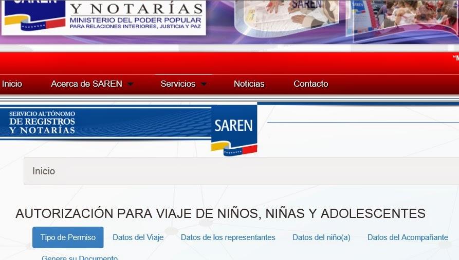 ciudadanos  pasos para emitir permisos de viaje para ni u00f1os en la p u00e1gina web del saren
