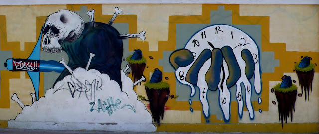 graffiti street art in barrio brasil and yungay, santiago de chile